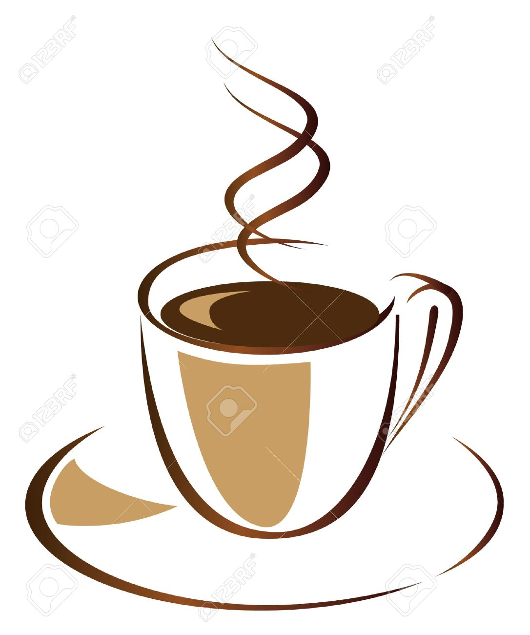Coffee cup vector free - Black Coffee In White Cup Vector Illustration Stock Vector 8072235