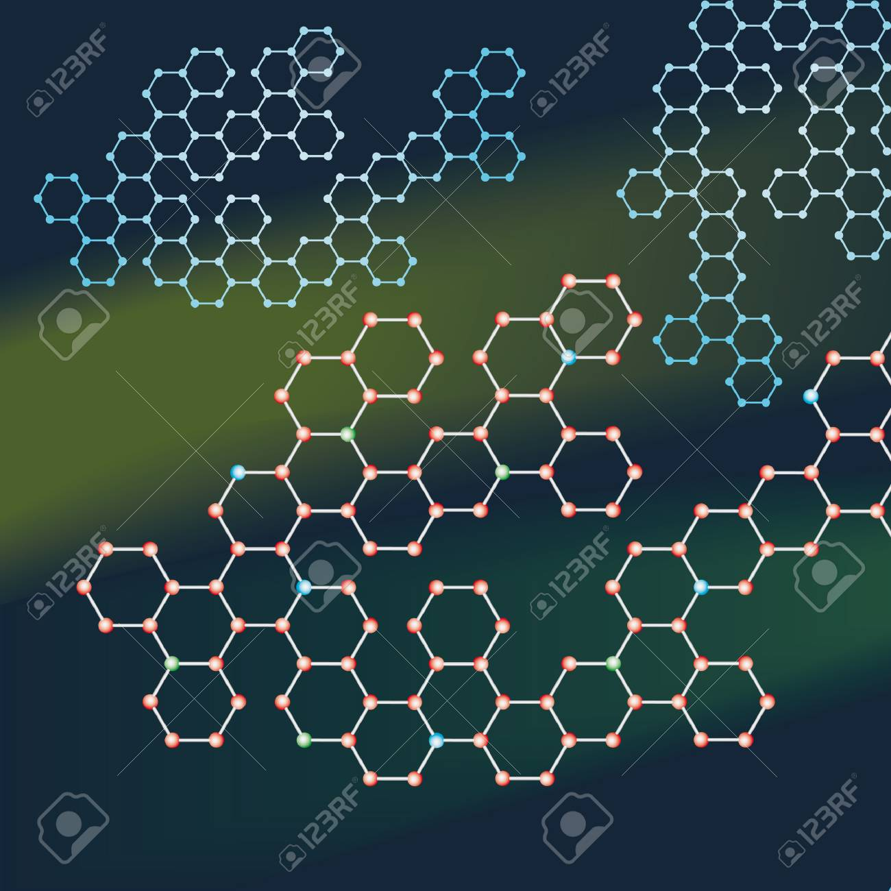 Abstract background of the molecules Stock Vector - 8759008