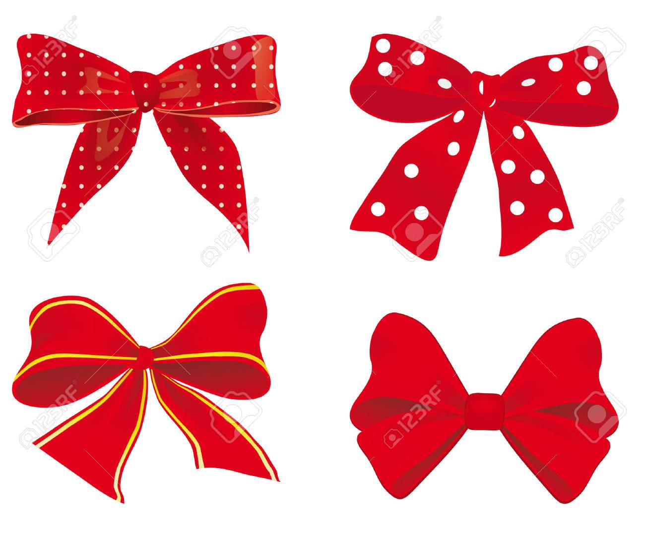 A collection of red ribbons. illustration Stock Vector - 8891376
