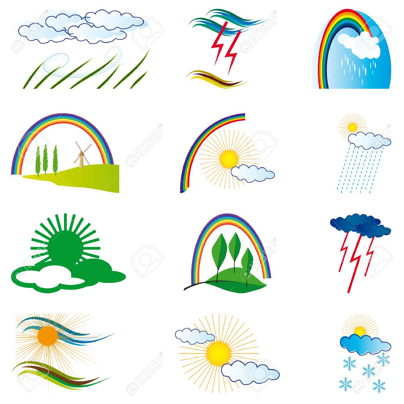A collection of natural elements for design. Vector illustration Stock Vector - 9003558