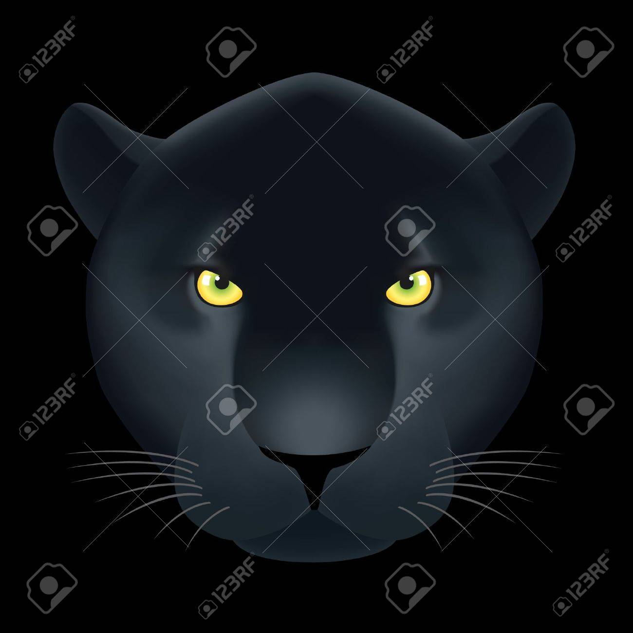Black Panther Background Panther Head on Black