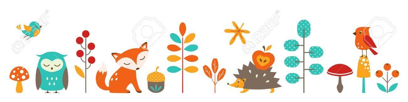 Cute autumn border for your design - 21951923