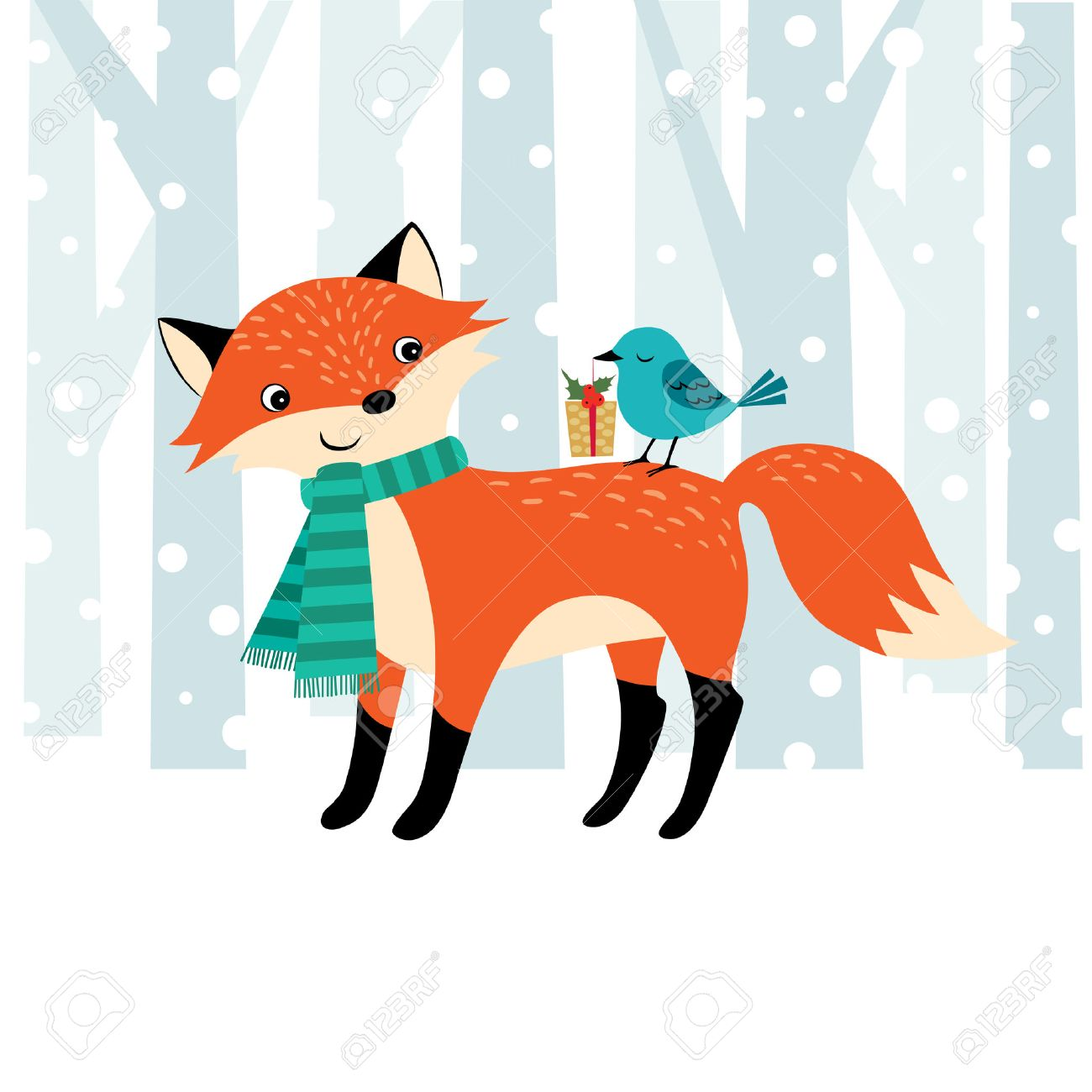 Cute Christmas illustration with place for your text. - 31060972