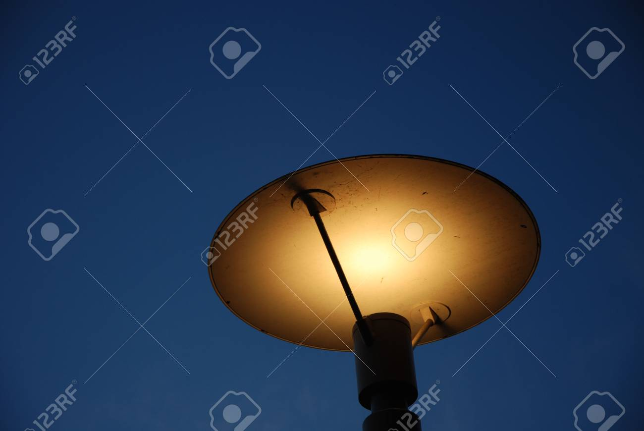Lantern in the evening darkness Stock Photo - 3509329