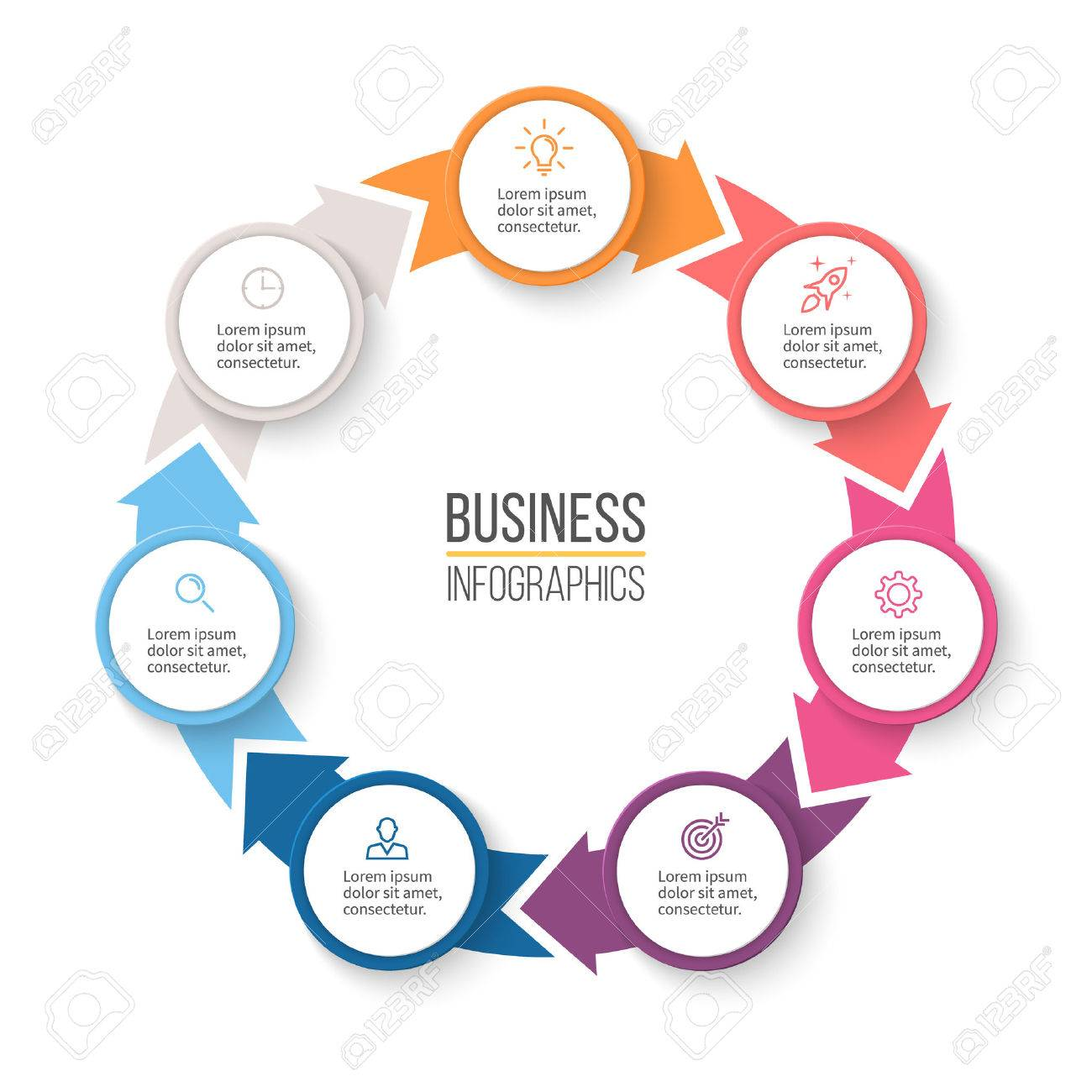 Circular arrows for infographics chart graph diagram with circular arrows for infographics chart graph diagram with 7 steps options ccuart Gallery