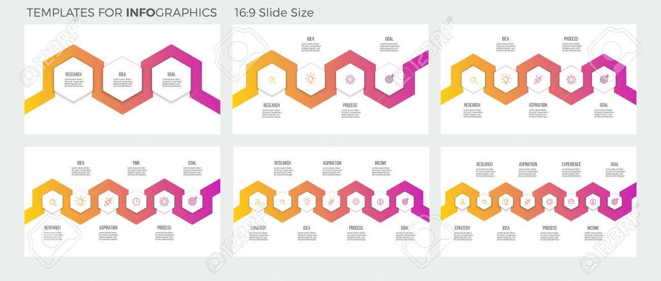 Geschäftsinfografiken. Präsentationen Mit 3, 4, 5, 6, 7, 8 Schritten ...