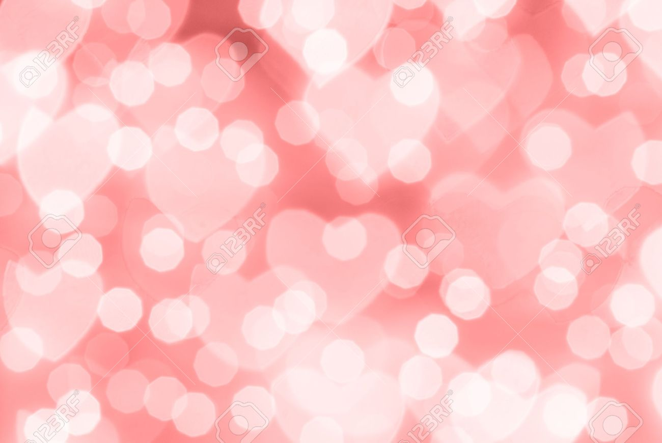 St Valentine Day Red Bokeh Background Place For Text Stock Photo