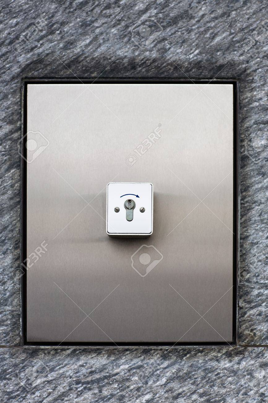 Key Switch For Garage Door Opener Stock Photo Picture And Royalty