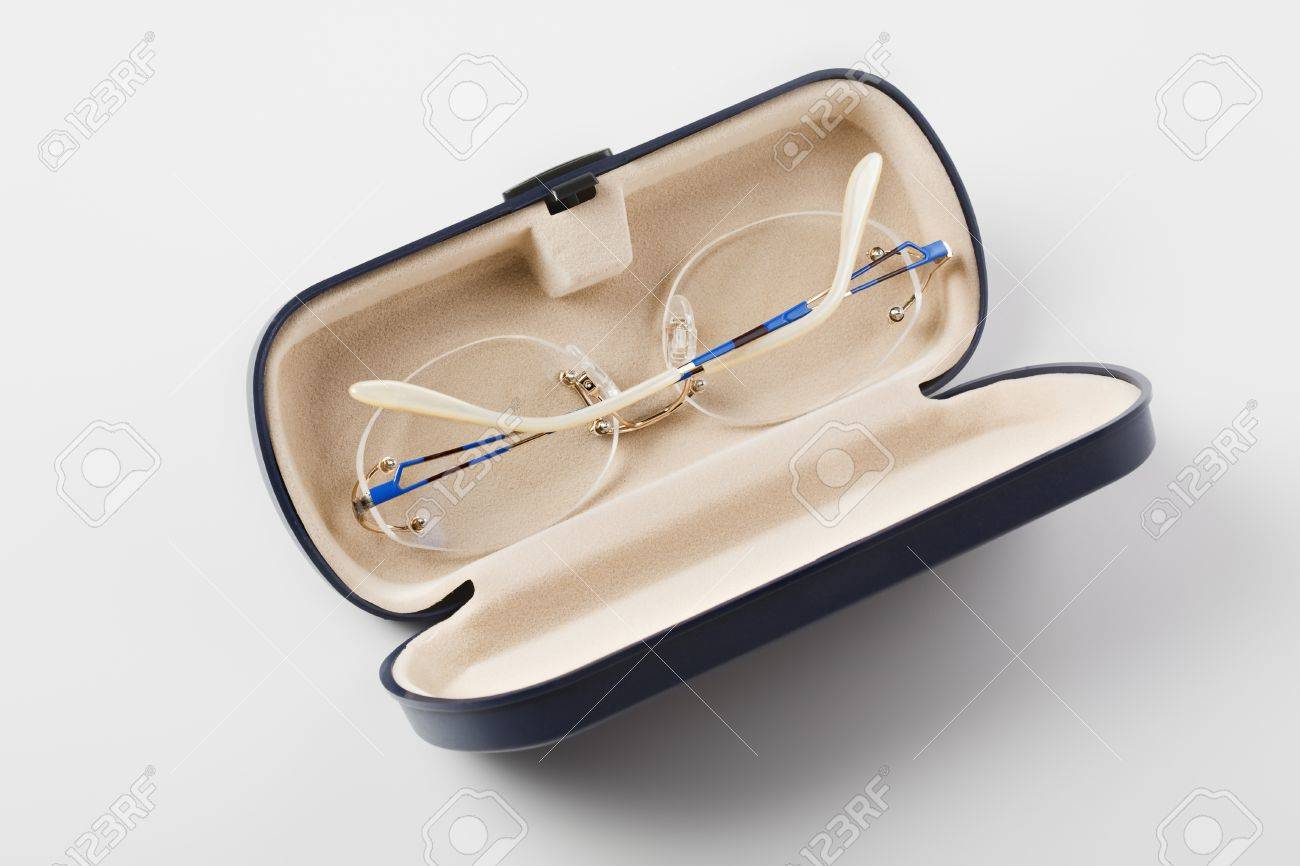 Spectacles Without Frames In Open Case Stock Photo, Picture And ...