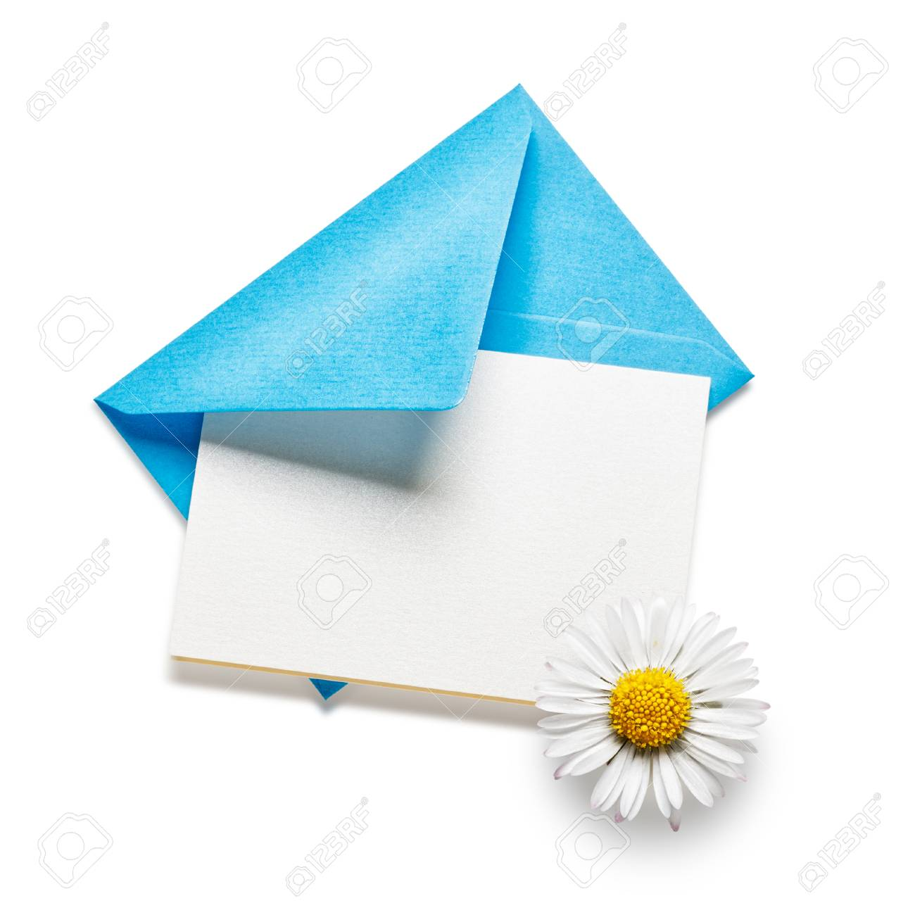 Blue envelope with card and daisy flower isolated on white blue envelope with card and daisy flower isolated on white background stock photo 28219966 mightylinksfo