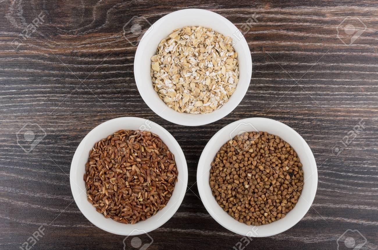 Cereales útil Fuente De Carbohidratos Lentos En Un Tazón De Vidrio ...