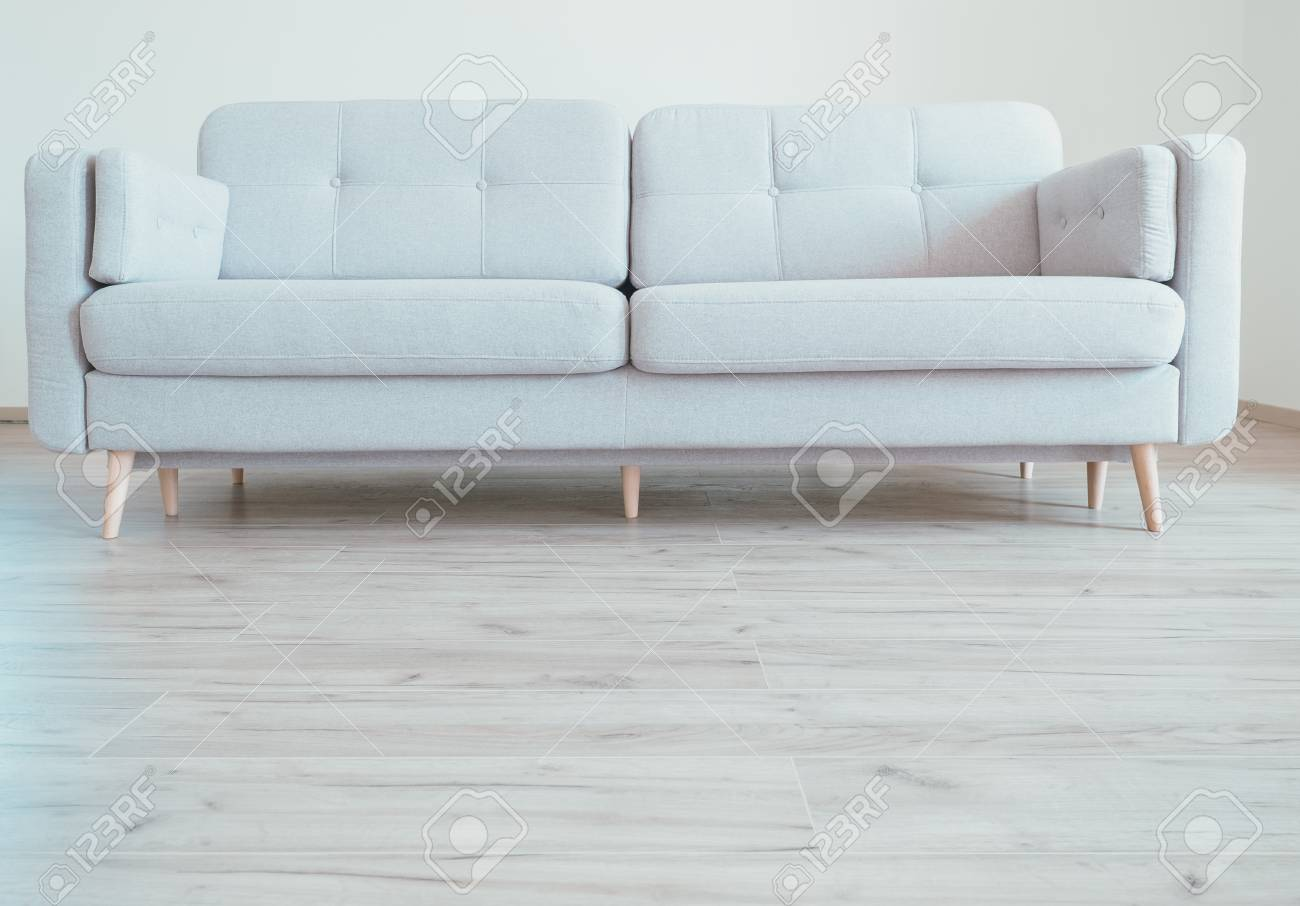 Cozy Contemporary Scandinavian Style Sofa On The Oak Laminate ...