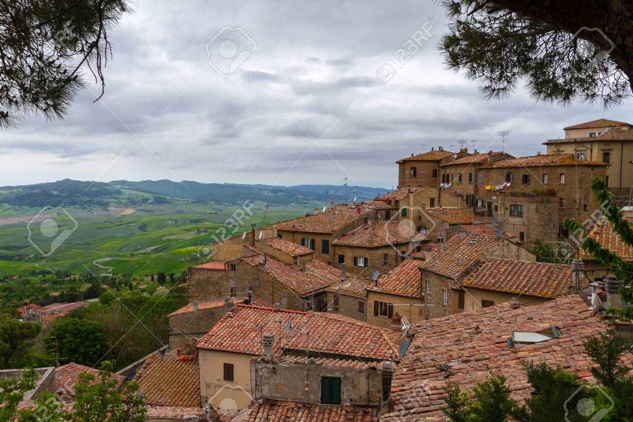 Volterra and view over Val d'Orcia, Tuscany, Italy Stock Photo - 15095221