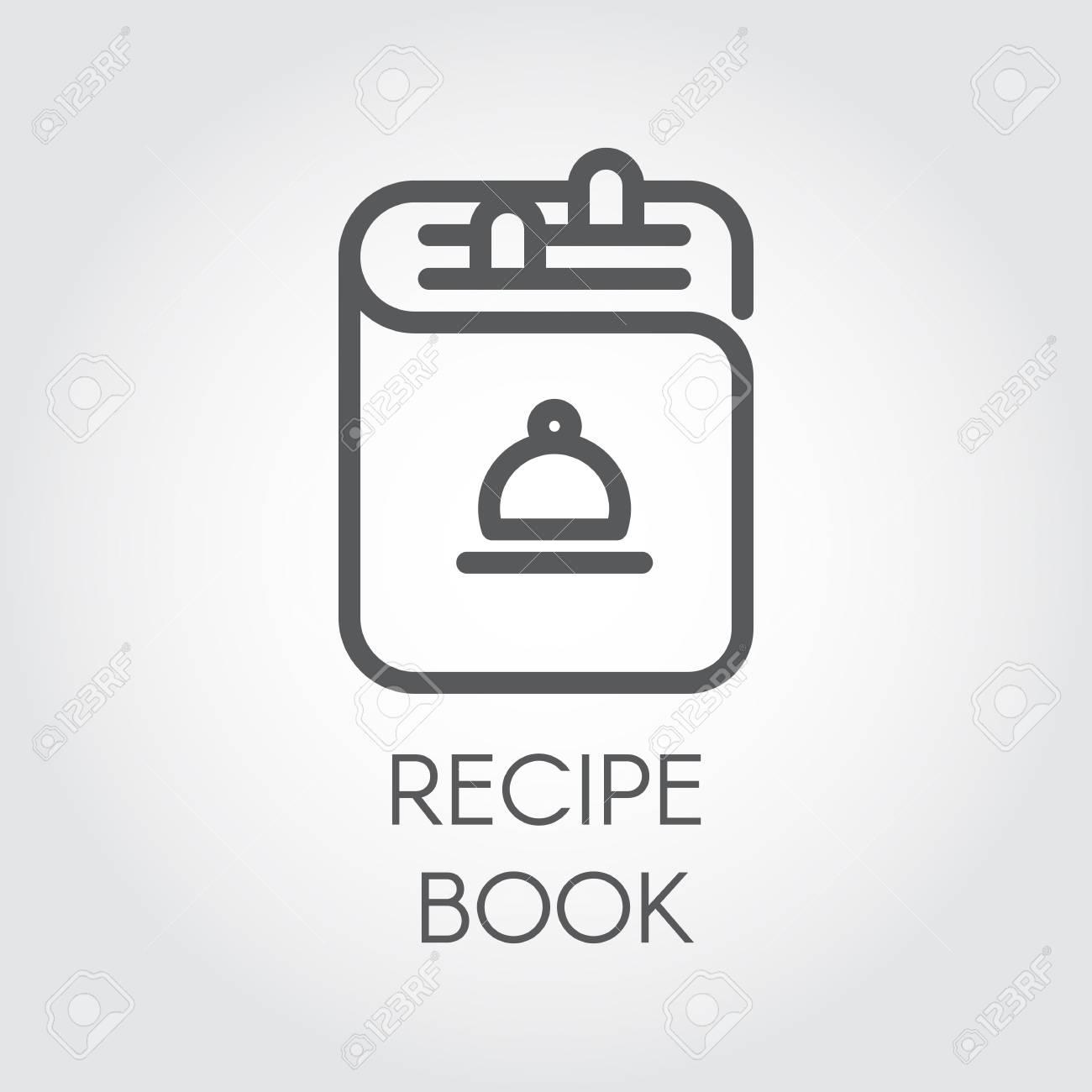 Icone Du Dessin Du Livre De Recettes Dans La Conception Des Contours Livre Blanc Cookbook Pour Differents Projets Culinaires Illustration