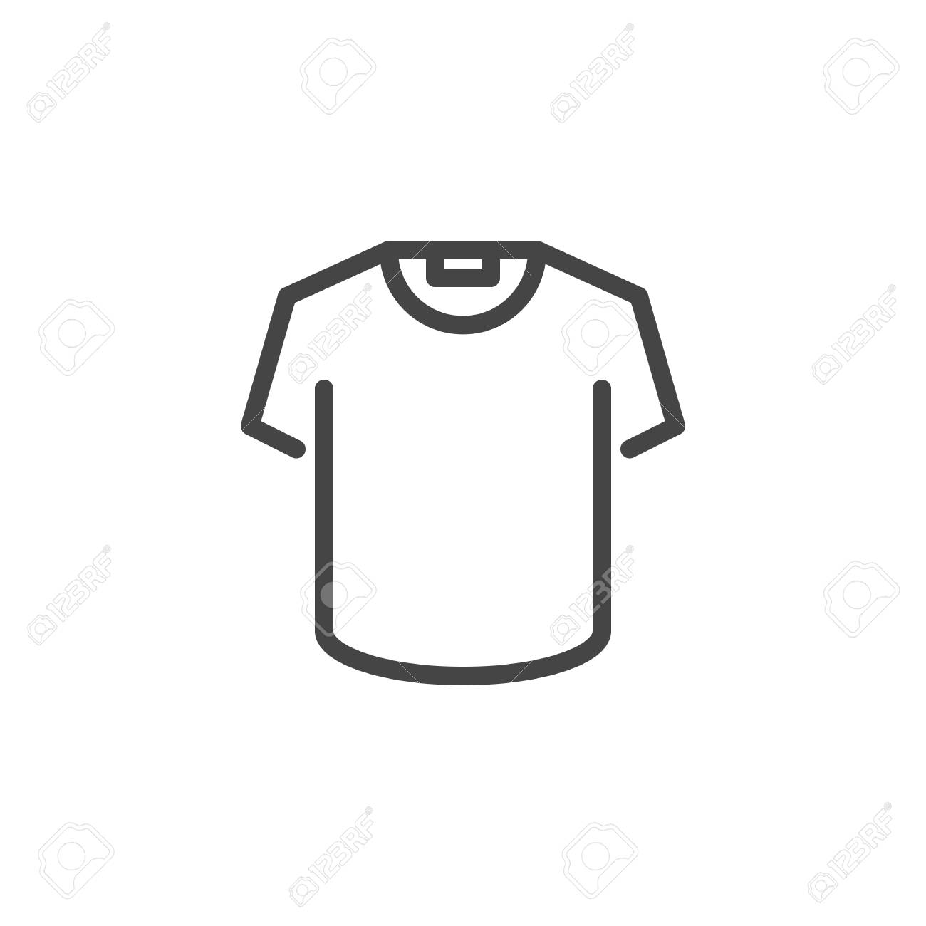 t shirt icon in line design button or sign for online store royalty free cliparts vectors and stock illustration image 106135175 t shirt icon in line design button or sign for online store