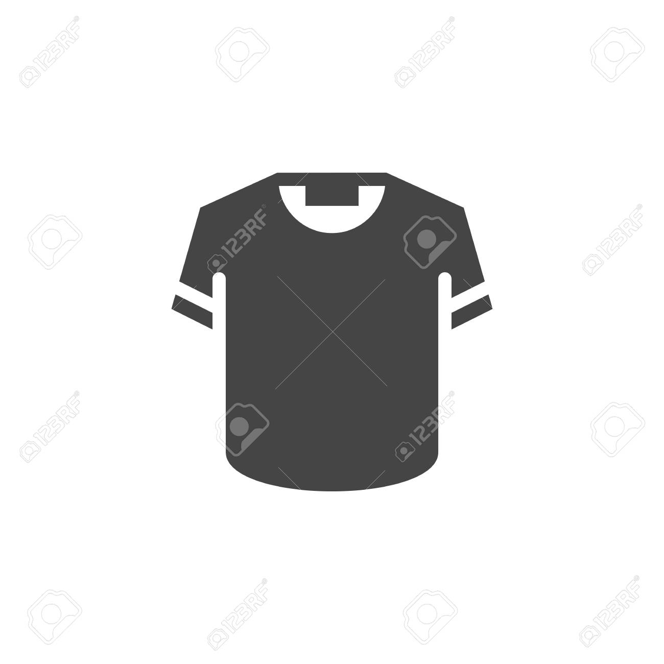 54ca46e91 T-shirt icon in black flat design. Button or sign for online store,
