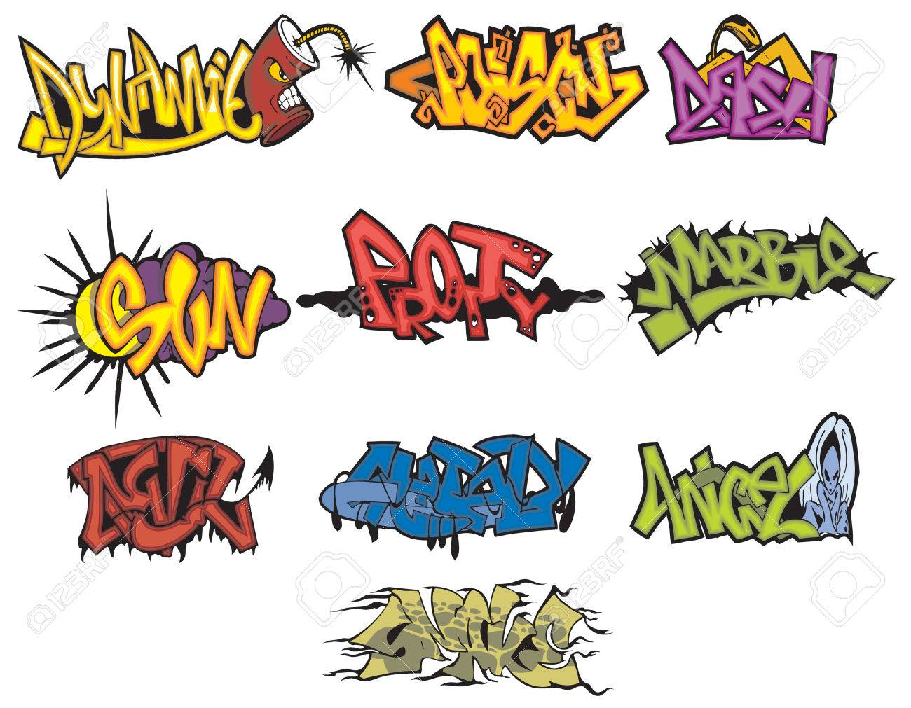 Create A Wild Graffiti Style Arrow Design Graffiti Arrows Designs Vector Illustration