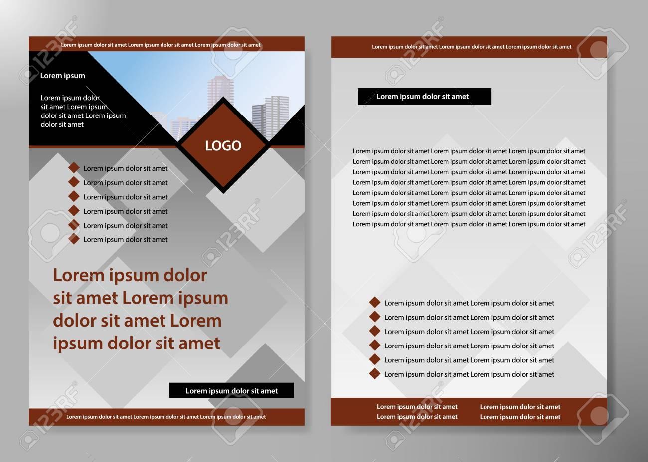 Minimal Flyers Report Business Magazine Poster Layout Portfolio TemplateBrochure Design Template VectorSquare