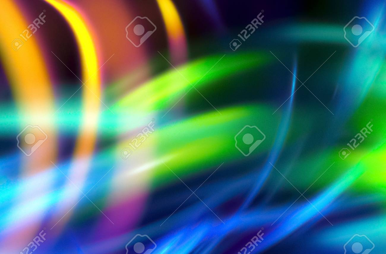 Glowing Streaks On Dark Background Luminous Abstract Sparkling Lined