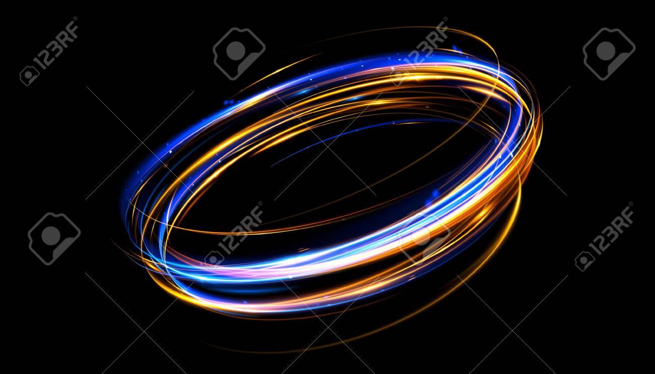 Led Linienle glow effekt ribbon glint abstrakte rotationsgrenzlinien energie