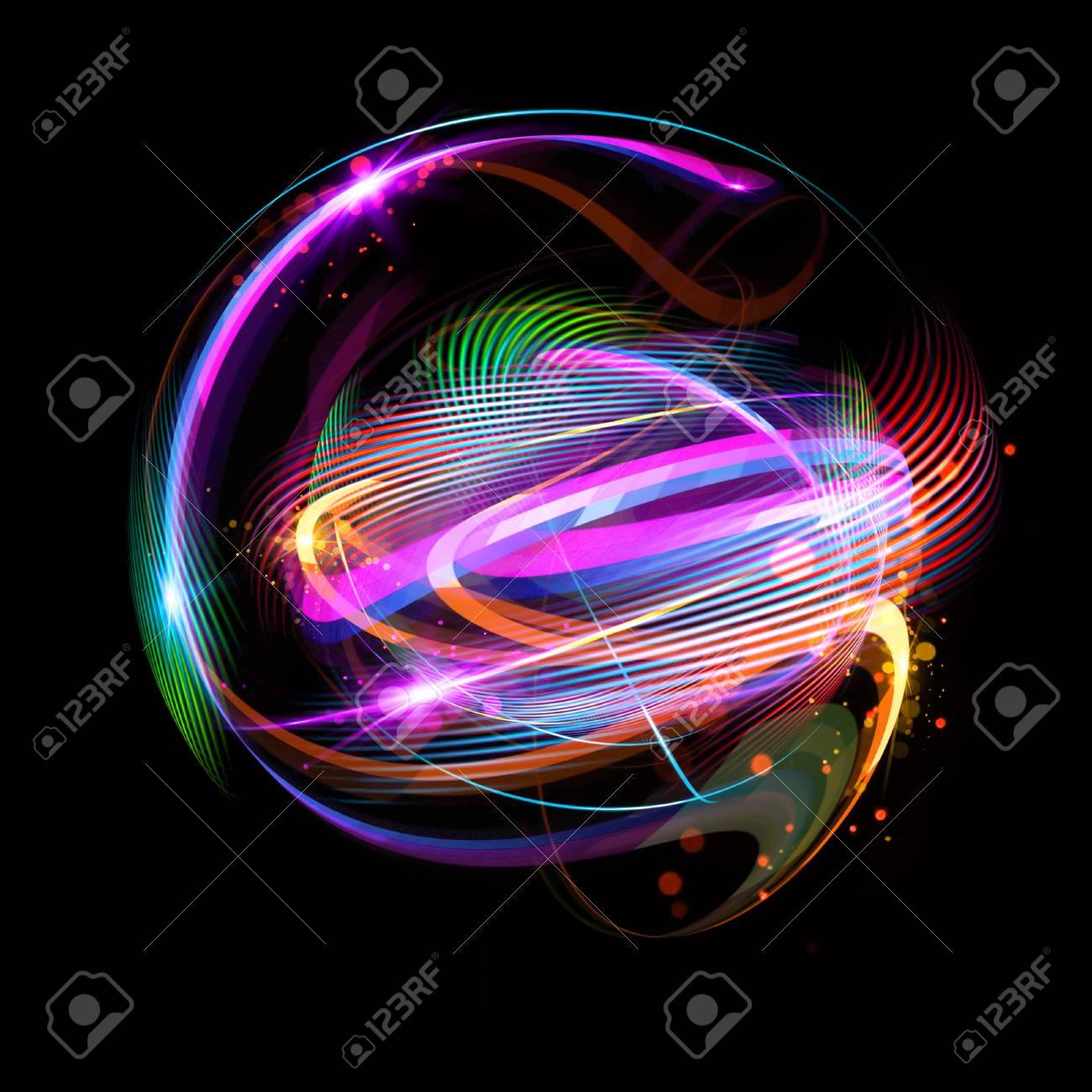 Icono De 3d Atom Modelo Nuclear Luminoso Sobre Fondo Oscuro Brillando Bolas De Energía Estructura De La Molécula Rastrea átomos Y Electrones