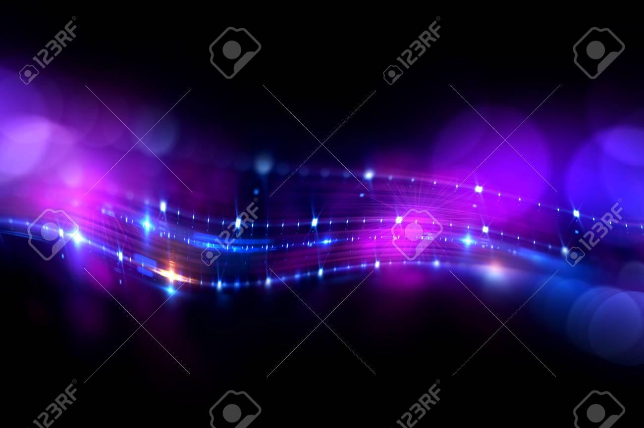 Line Art Effect Photo : Art light flares. bulb streaks. magic black space. flash glow