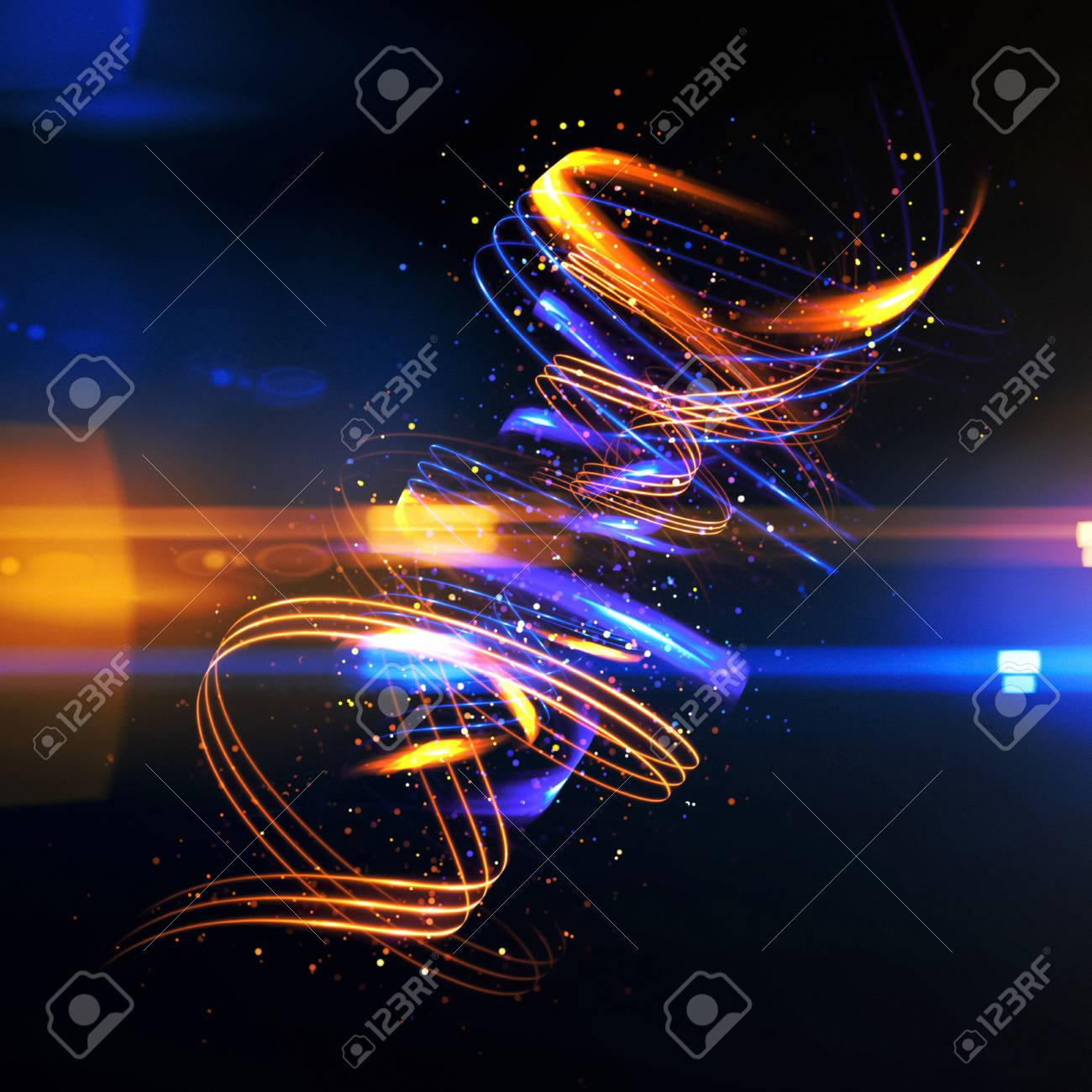 Glow Swirl Lichteffekt. Kreisförmige Blendenflecke. Abstrakte ...