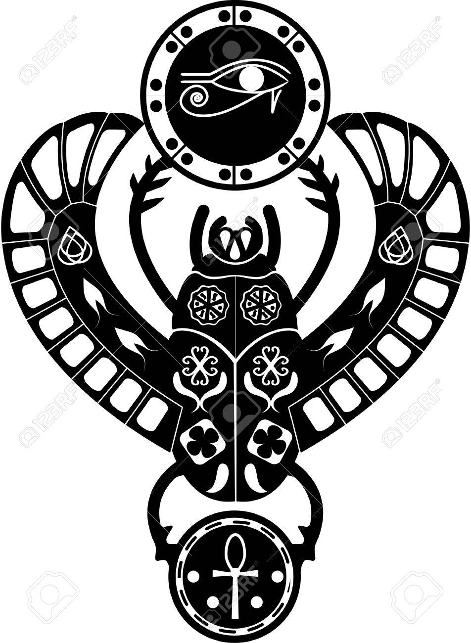 Black and white silueit ancient egyptian symbol amulet black and white silueit ancient egyptian symbol amulet traditional religious scarab beetle with patterns buycottarizona