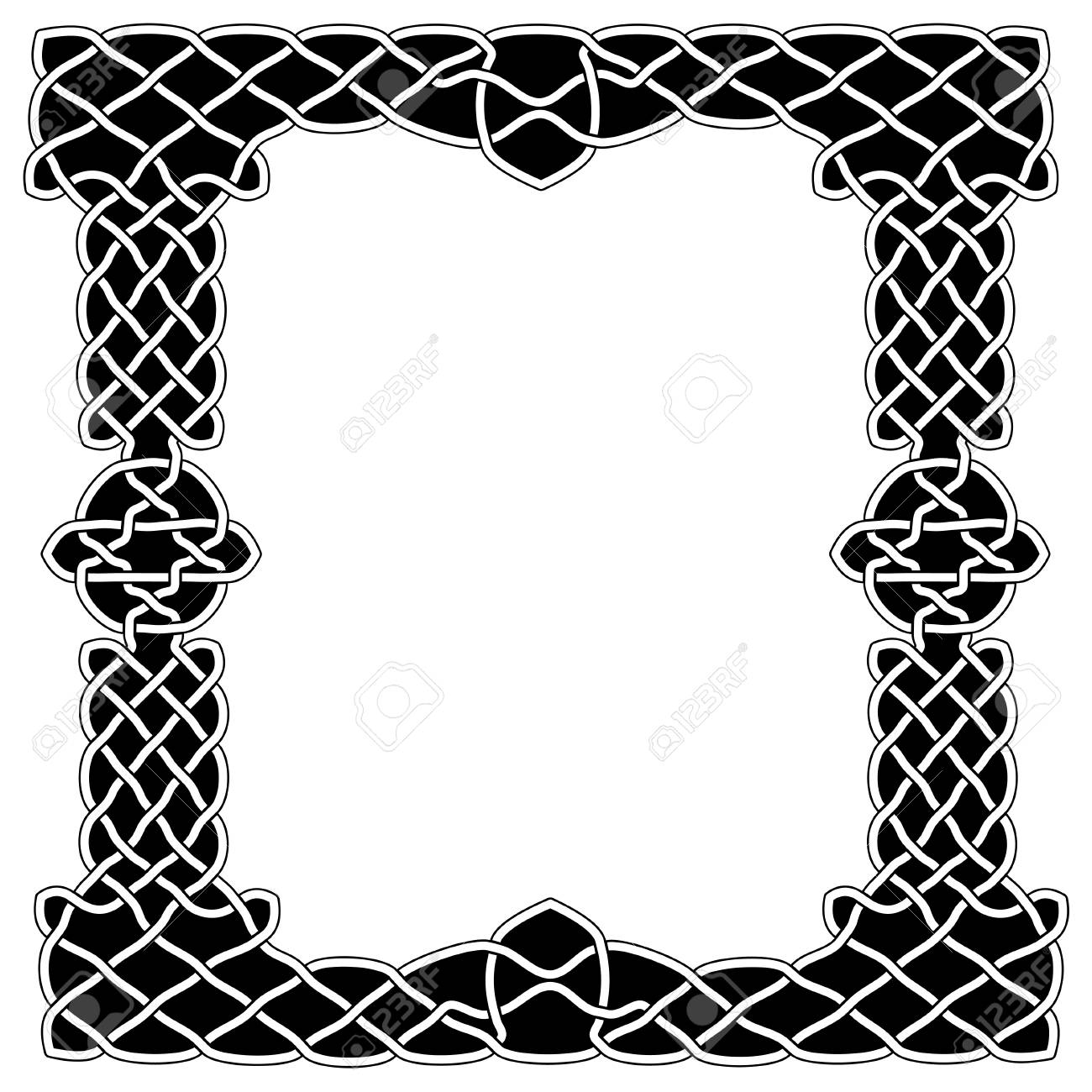 Borders, Frames, Shows The Black And White Colors Imitating Arabic ...
