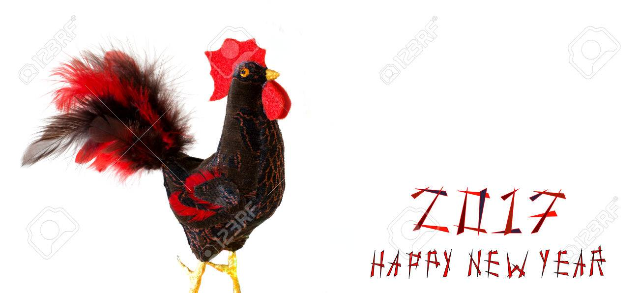 Happy New Year 2017 On The Chinese Calendar Of Rooster Template ...