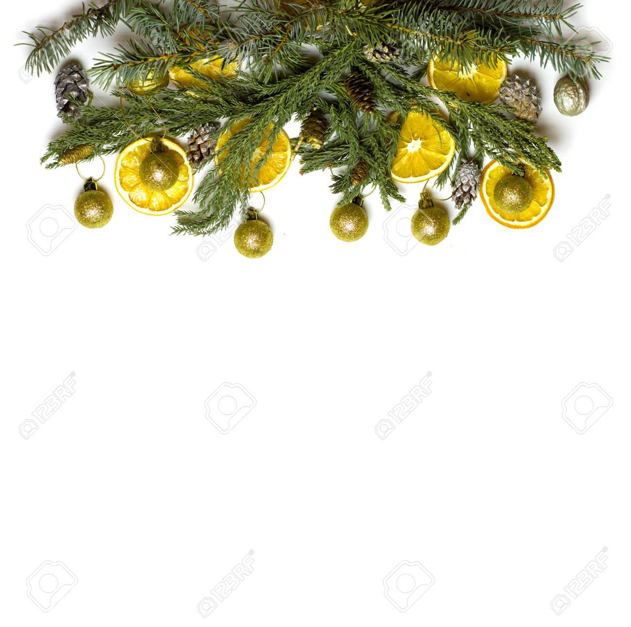 El Marco De La Frontera Superior De La Navidad De La Rama De árbol ...