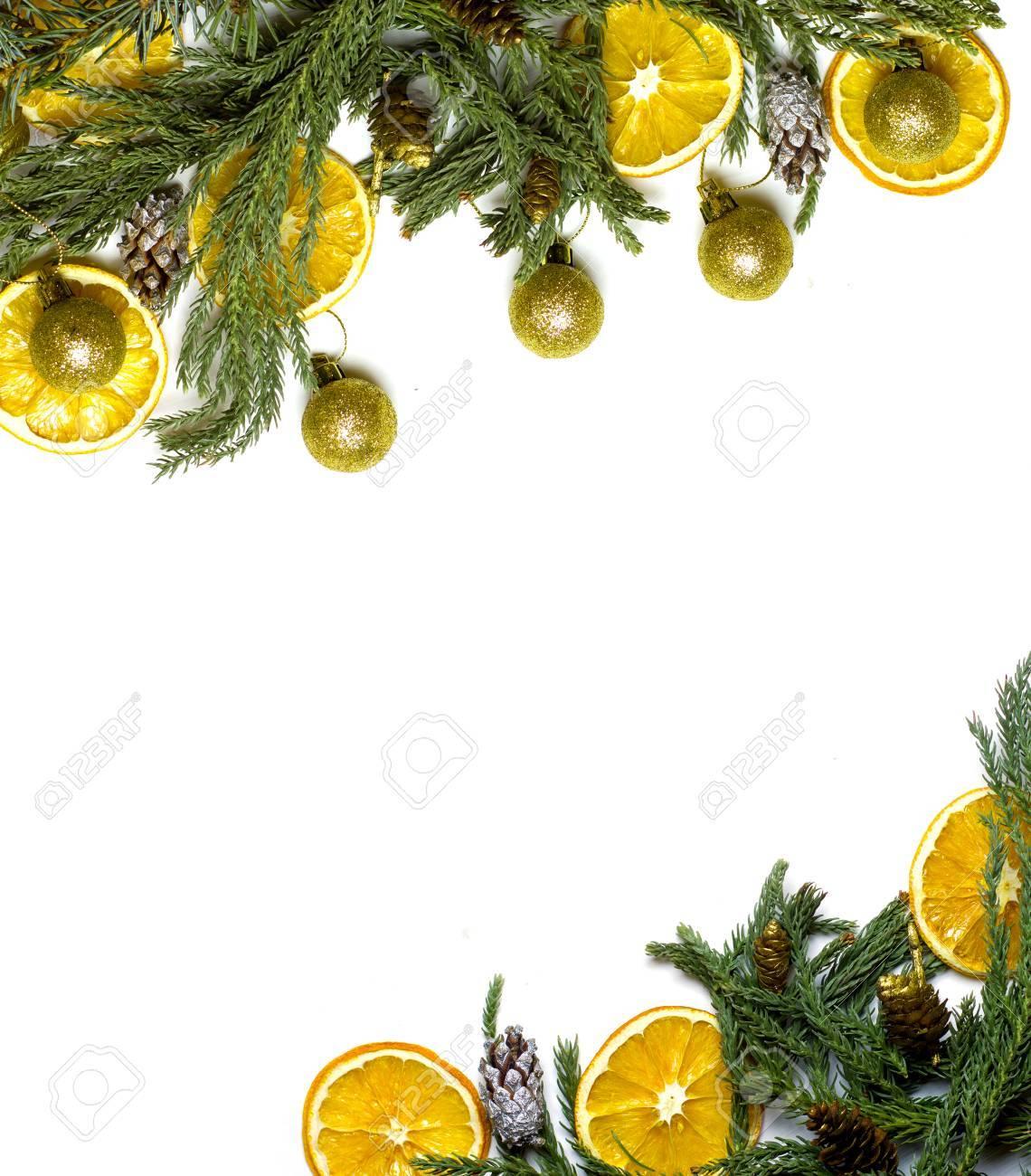 El Marco Diagonal De La Frontera De La Navidad De La Rama De árbol ...