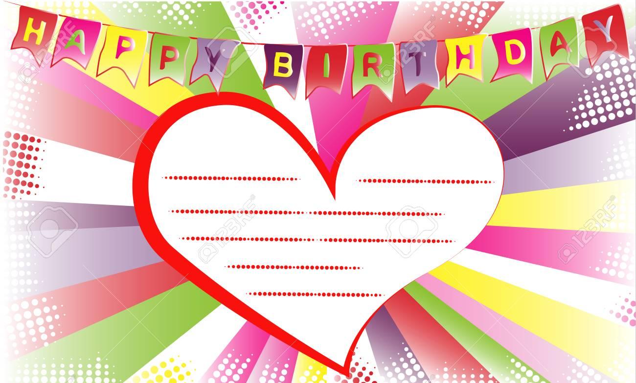 Happy Birthday Invitation Or Congratulation Card Template Typographic