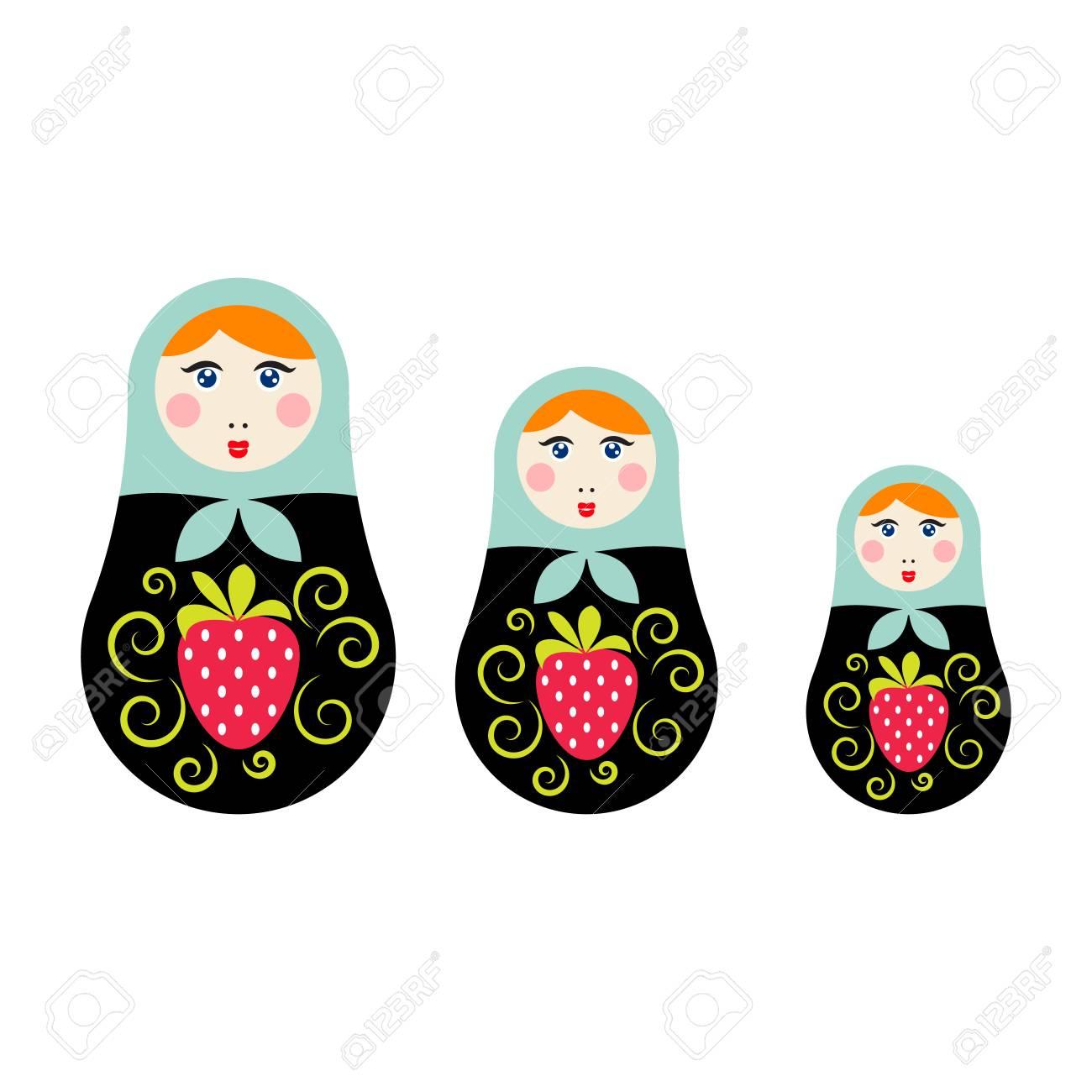 ロシアの入れ子人形のベクトル イラストマトリョーシカ グッズお土産