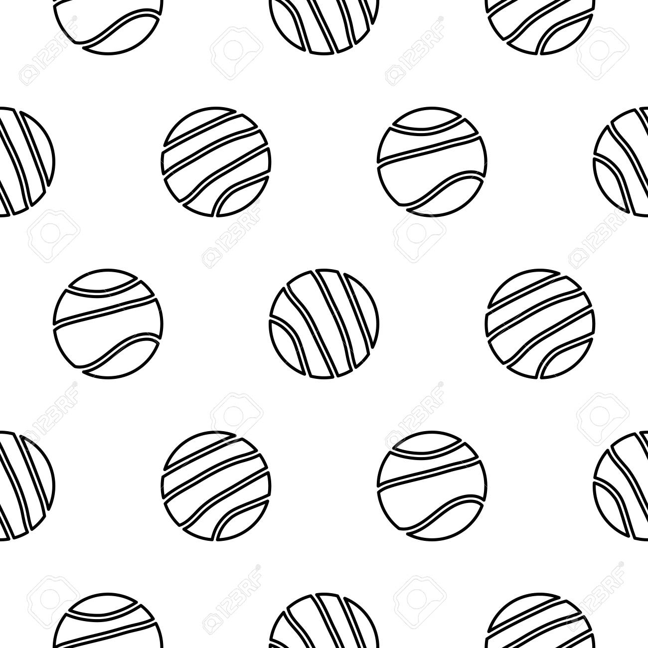 circle geo line shapes hipster seamless vector pattern black and white simple shapes background for - Simple Shapes