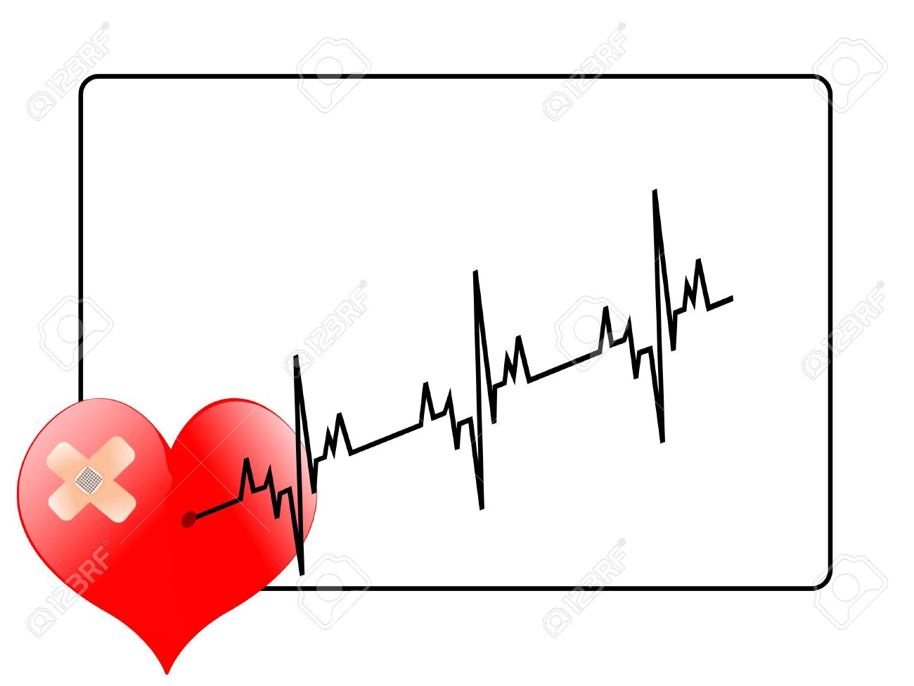 life-line coming from heart Stock Photo - 3184486