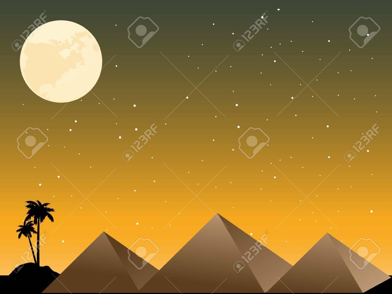 pyramids in night scene Stock Photo - 3311094
