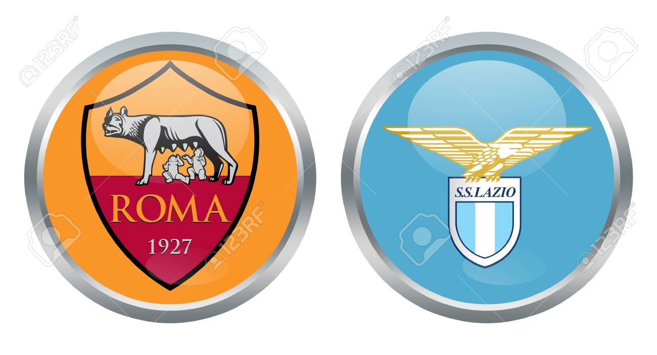 Roma Vs Lazio Fc Signs Stock Photo, Picture And Royalty Free Image. Image  69200300.