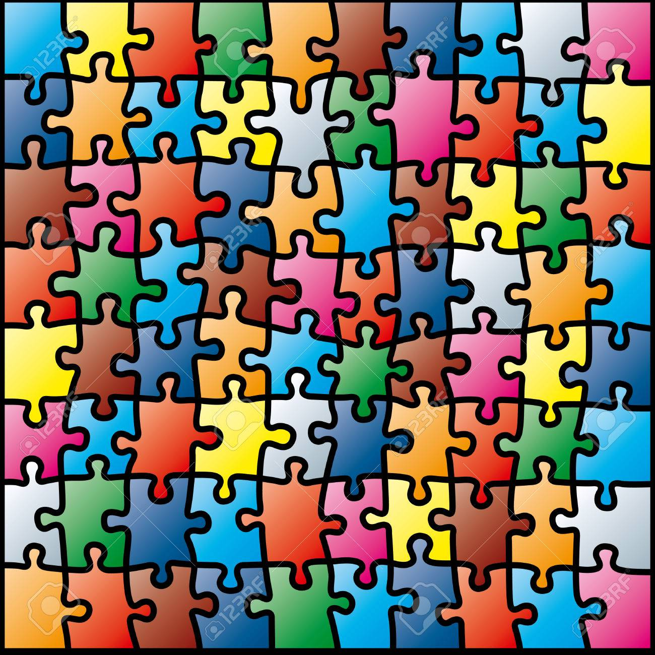 jigsaw puzzle colorful pattern royalty free cliparts vectors and