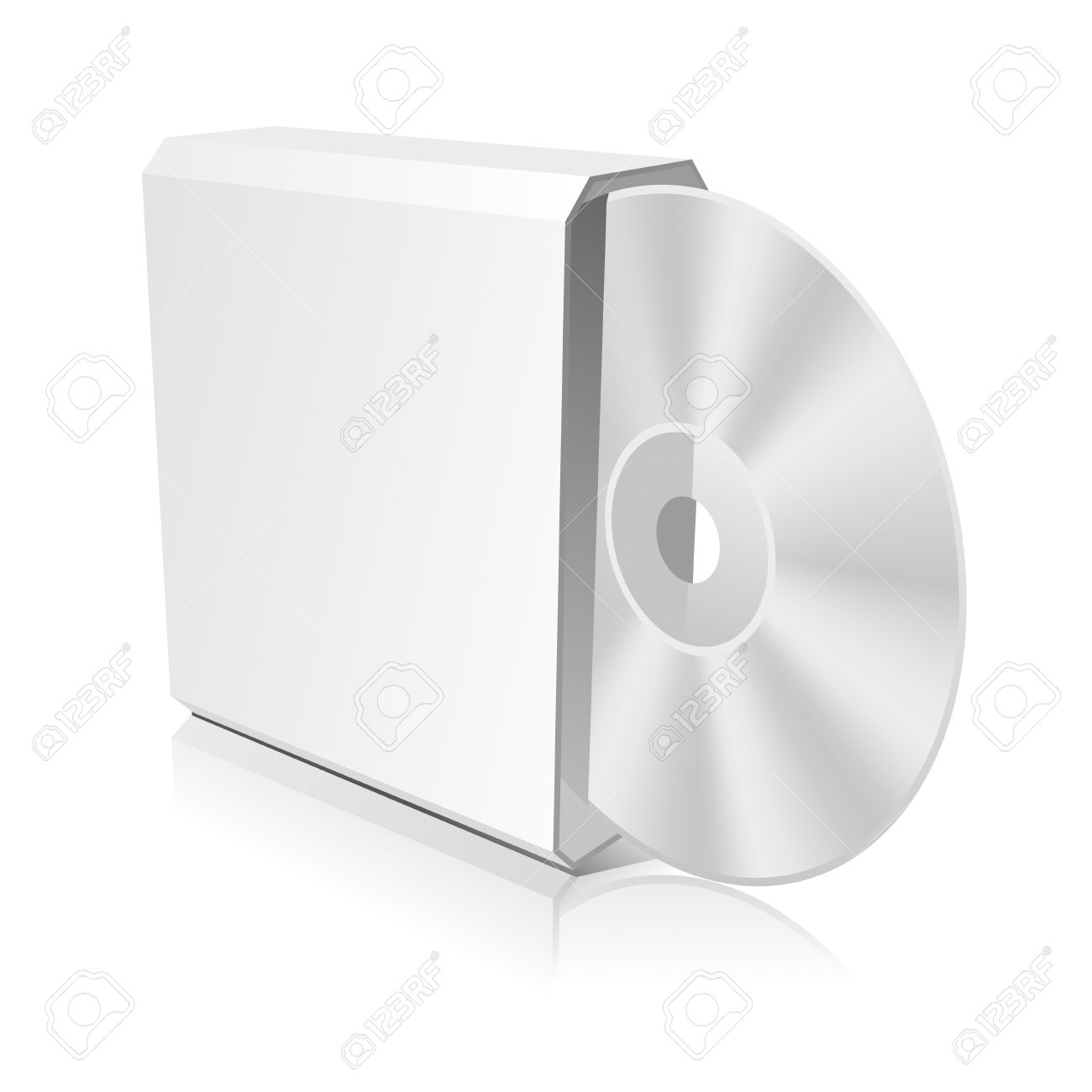 software cd box blank template vector illustration eps 8 0