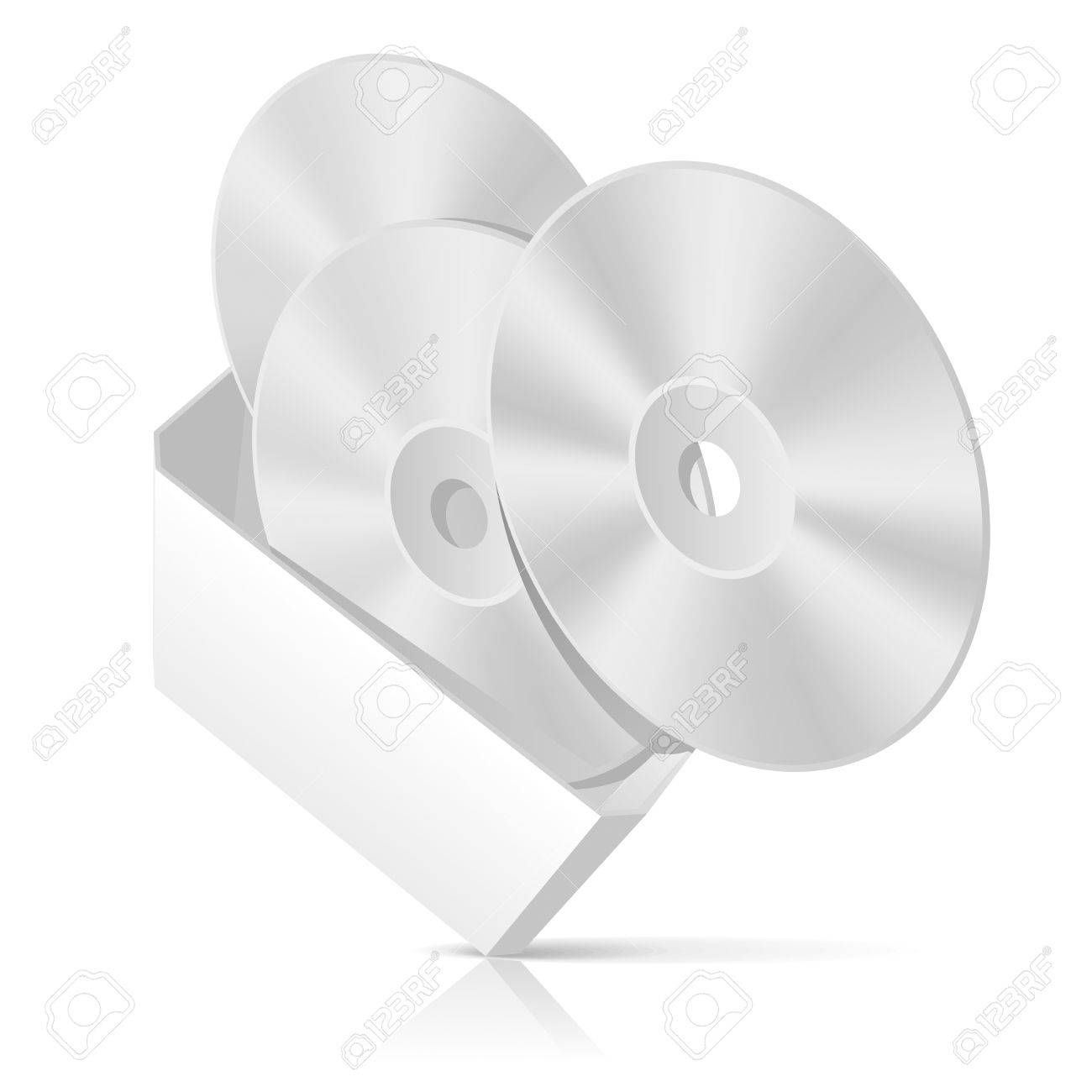Software CD box with disks template. Vector Illustration Stock Vector - 9327715