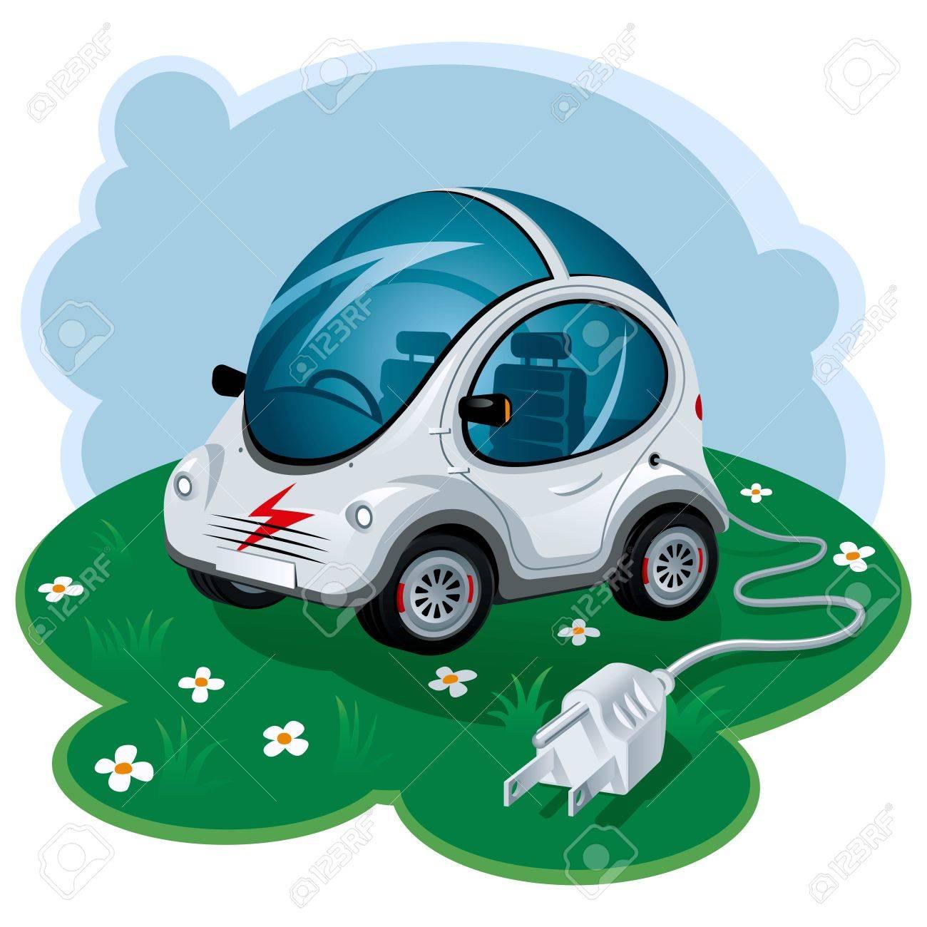 Green Energy Car. Vector Illustration Stock Vector - 9327732