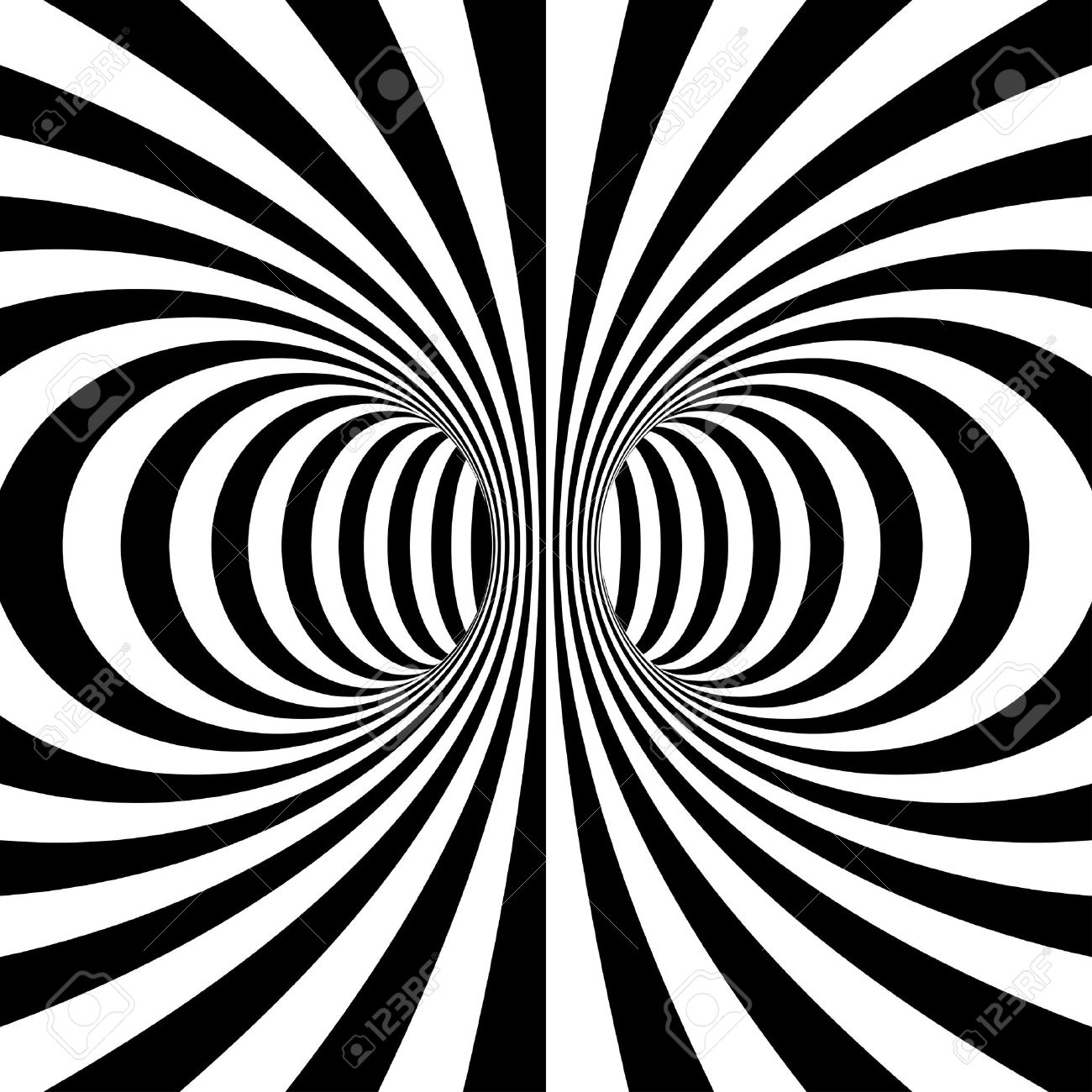 Black and white stripes projection on torus. Vector illustration Stock Vector - 10508706