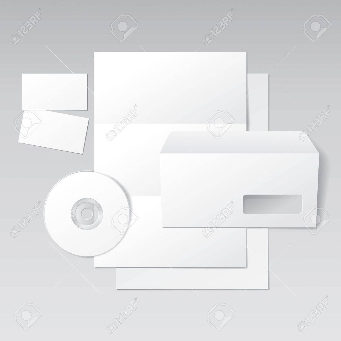Lettre Blank Enveloppe Cartes De Visite Et Le Modle CD