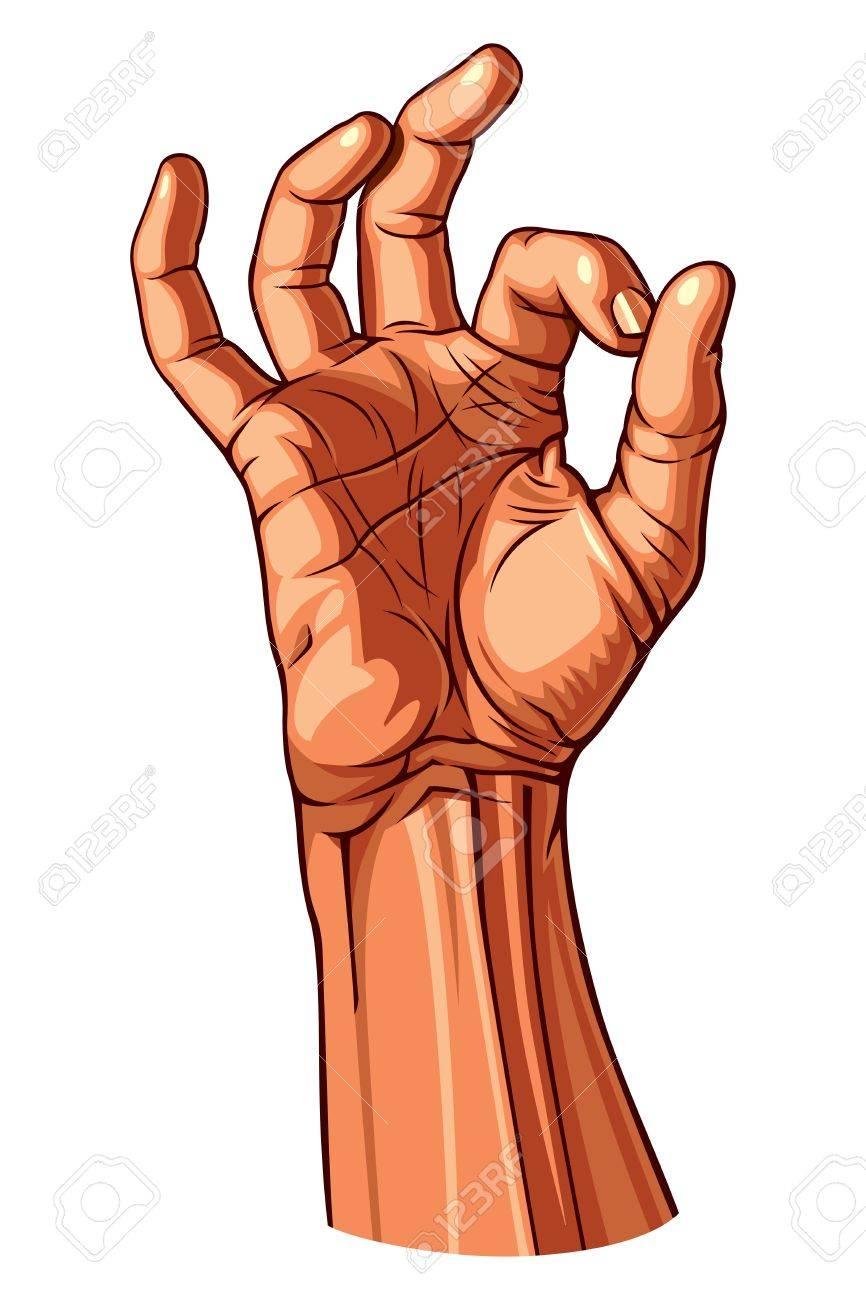 OK Hand Gesture illustration Stock Vector - 14409655
