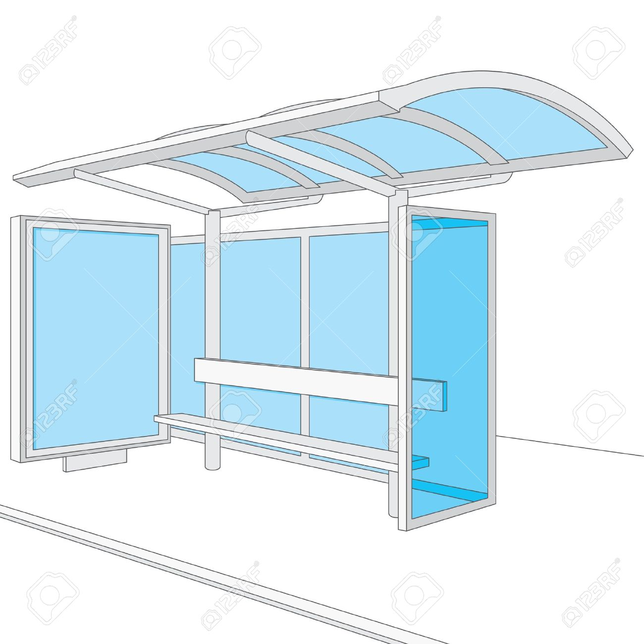 bus stop empty design template for branding royalty free cliparts