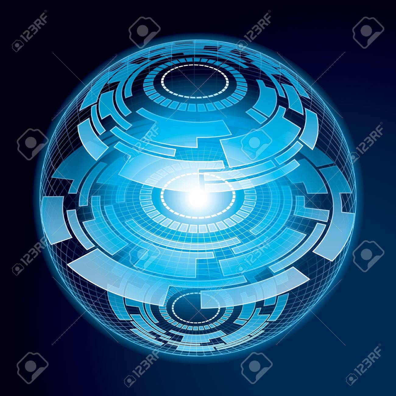 Fantasy Navigation Sphere  Vector Illustration Stock Vector - 21523480