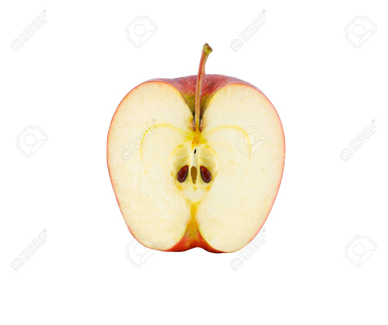 Apple Slice Isolated On White With Clipping Path Stock Photo ...