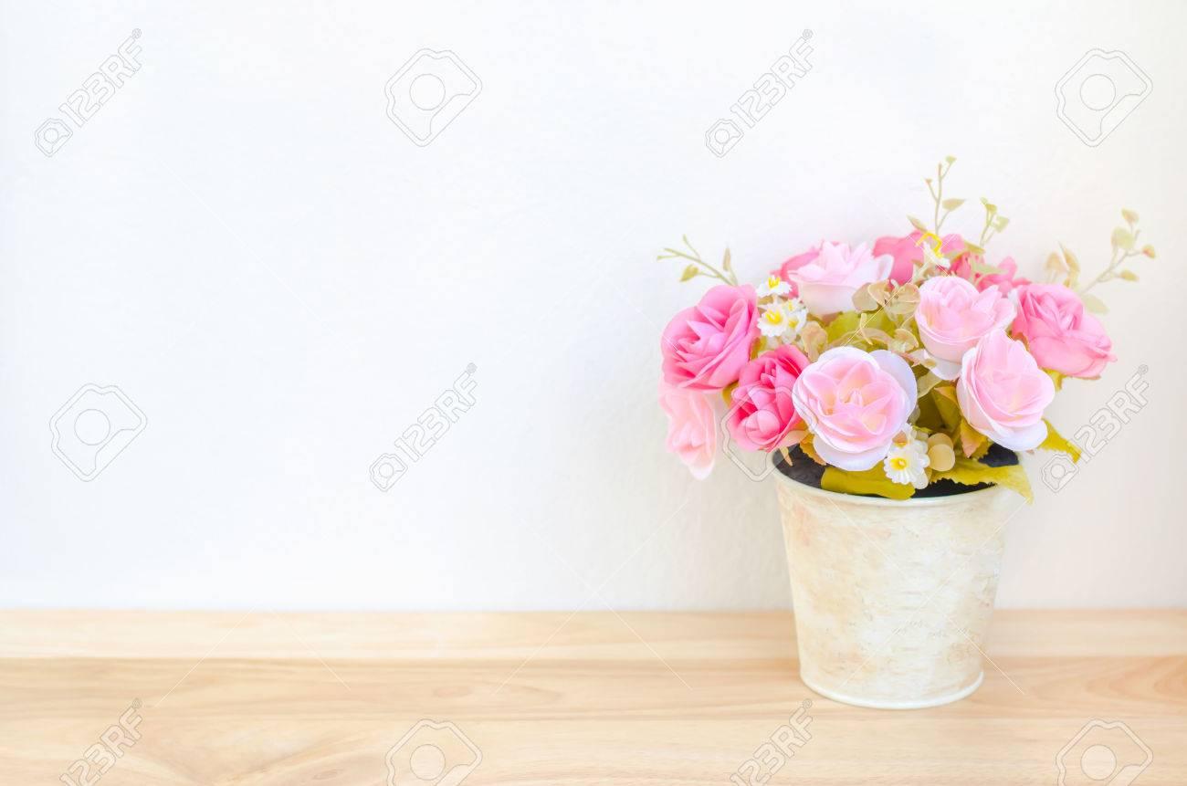 Pastel Farbige Kunstliche Rosa Rosen Hochzeits Blumenstrauss Im
