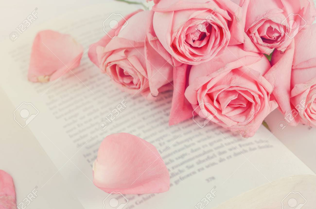 gros plan de rose pastel rose bouquet de fleurs avec des pétales